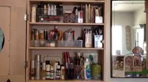 awesome organized on a budget makeup u0026 skincare cabinet youtube
