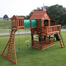 furniture backyard discovery wooden playsets with green slider