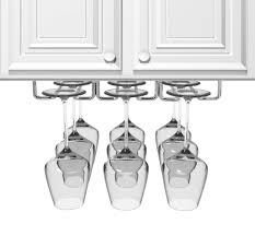 amazon com sorbus under cabinet wine glass rack and stemware