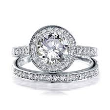 engagement jewelry sets bling jewelry 925 silver 2ct cz engagement