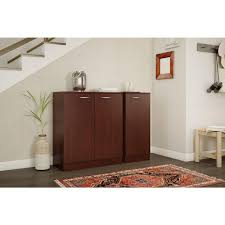 south shore storage cabinet south shore axess royal cherry storage cabinet 10186 the home depot