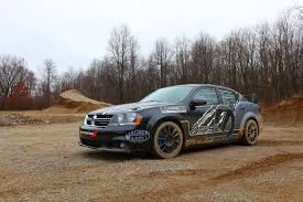 dodge avenger rally car video