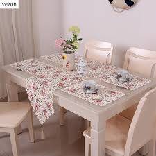 Table Runners For Dining Room Table Aliexpress Com Buy Vezon Elegant Floral Full Embroidery Table