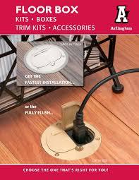 Laminate Floor Install Kit Arlington Drop In U0026 Cut In Floor Box Kits