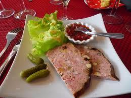 lapin de cuisine terrine de lapin et accompagnement picture of le bistrot des