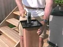 small backyard deck part7 installing a titan 6x6 post anchor