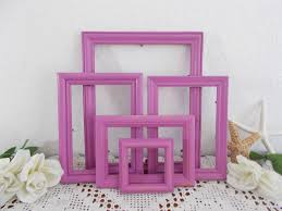 radiant orchid home decor radiant orchid picture frame set shabby chic photo wall gallery