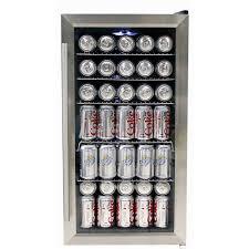 coca cola fridge glass door whynter br 125sd stainless steel beverage refrigerator walmart com