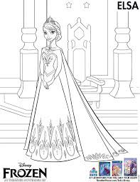 frozen queen elsa coloring page vector of a cartoon frozen