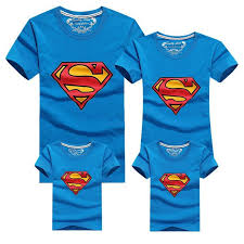 2017 family cotton t shirts superman look casual fashion family