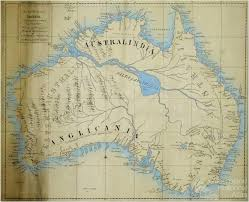 sketch of the coasts of australia and the supposed entrance of the