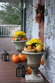How To Decorate Your Door For Halloween by Outdoor Fall Decor Stonegable