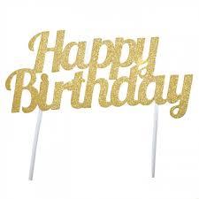 happy birthday cake topper gold glitter sparkly happy birthday cake topper candle cake