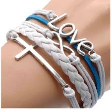 braided leather charm bracelet images Multi strand braided leather charm bracelet only 0 95 shipped png