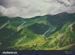 Georgia travelers stock images Green caucasus mountain landscape georgia natural stock photo jpg