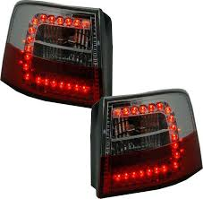 back rear lights in clear led pair for audi a6 avant c5