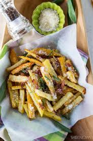 super easy french fries alla carbonara