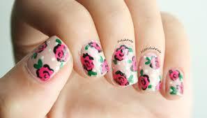 polish pals dainty rose nails tutorial