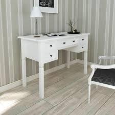 bureau blanc moderne bureau blanc moderne avec 5 tiroirs de rangement pour étude ou
