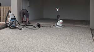 Sandpaper For Concrete Floor by Diamond Grinding Garage Floor Youtube
