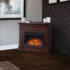 bailey wall corner electric fireplace mantel package in espresso