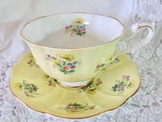 Vanity Fair China Grosvenor Bone China Teacup And Saucer Red U0026 Gold On White Cups