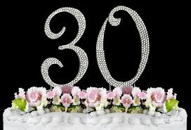 rhinestone number cake toppers new large rhinestone number 30 cake topper 30th birthday