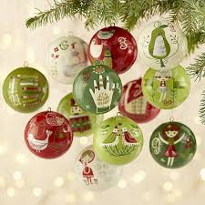 12 days of ornaments set of 12 crate and barrel
