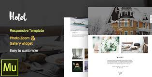 hotel adobe muse cc responsive template gallery widget by