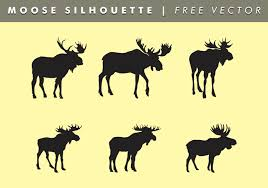 moose silhouettes vector free download free vector art stock