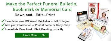 funeral bulletins funeral bulletin template