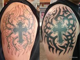 cross tribal coverup designs tattooshunt com