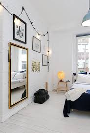 Wall Bedroom Lights Bedroom Scandinavian Bedroom With String Light Walls 22