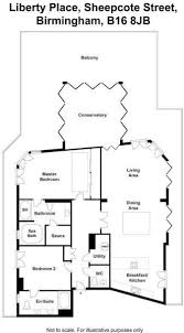 2 bedroom penthouse for sale in sheepcote street birmingham b16