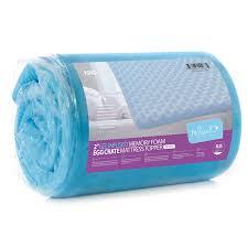 Gel Memory Foam Topper Egg Crate Foam Mattress Pad King Size Mattress