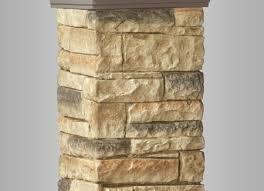 deckorators beige stacked stone postcover deck supply people
