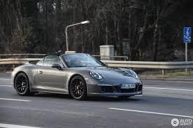 grey porsche 911 convertible porsche 991 carrera gts cabriolet 12 february 2017 autogespot
