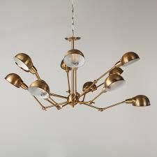 Spider Chandelier Classic Brass Metal 12 Light Spider Chandelier World Interiors