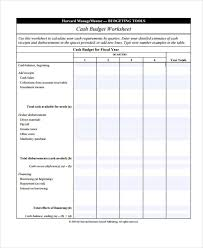 cash budget template budget template for building a cash budget