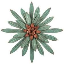 Metal Flower Wall Decor - copper metal flower wall decor with bling center purchased 2