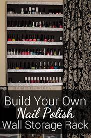 diy nail polish wall storage rack u2013 the domestic diva