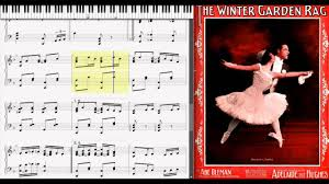 winter garden rag by abe olman 1912 ragtime piano youtube