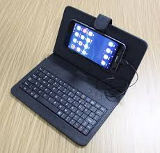 keyboard for android phone multi color leather smartphone se flip cover wired otg usb