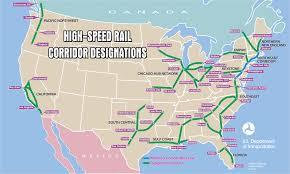 Michigan Area Codes Map by U S High Speed Rail Corridor Designations 1061 X 635 Mapporn
