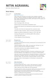 Mainframe Developer Resume Examples by Ui Developer Resume Samples Visualcv Resume Samples Database