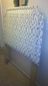 treasured rubbish diy upholstered headboard with stenciled