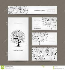 Business Card Music Business Cards Collection With Music Design Stock Images Image