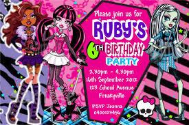 monster high birthday invitations u2013 gangcraft net