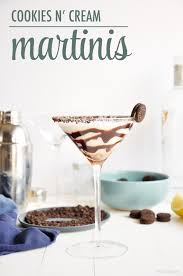 martini white cookies and cream cocktail the chic site