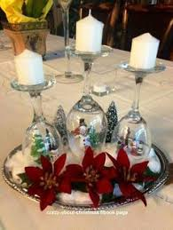 diy table decor upside down wine glasses w christmas ornaments